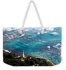Diamond Head Lighthouse Weekender Tote Bag by Steven Sparks