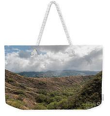 Diamond Head View Weekender Tote Bag