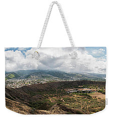 Diamond Head View Panoramic Weekender Tote Bag