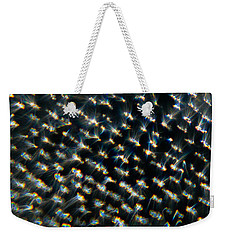 Weekender Tote Bag featuring the photograph Diamond Lights by Greg Collins