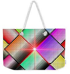 Diamond Rainbow Weekender Tote Bag