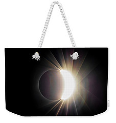 Diamond Ring With Flare During Solar Eclipse Weekender Tote Bag