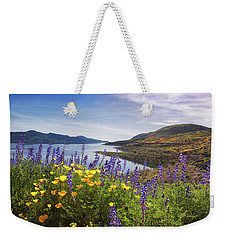 Weekender Tote Bag featuring the photograph Diamond Valley by Tassanee Angiolillo