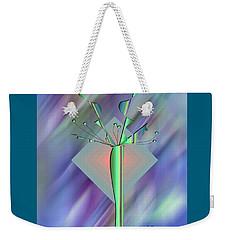 Weekender Tote Bag featuring the digital art Diamond Vision 2 by Iris Gelbart