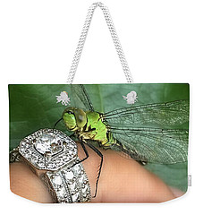 Diamonds Are A Dragonflies Best Friend Weekender Tote Bag