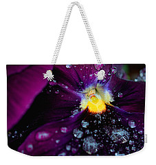 Diamonds On A Pansy Weekender Tote Bag