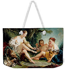 Weekender Tote Bag featuring the painting Diana After The Hunt by Pg Reproductions