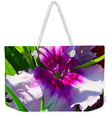 Dianthus Carnation Weekender Tote Bag