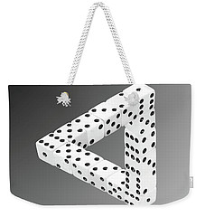 Dice Illusion Weekender Tote Bag by Shane Bechler