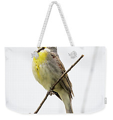 Weekender Tote Bag featuring the photograph Dickcissel  by Ricky L Jones