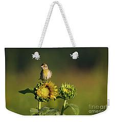 Dickcissel Sunflower Weekender Tote Bag