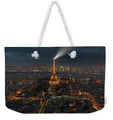 Didn't Know Paris Has A Skyline Weekender Tote Bag by Alex Aves