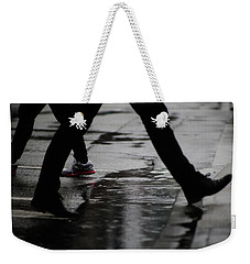 Weekender Tote Bag featuring the photograph different Directions  by Empty Wall