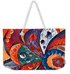 Digital Abstract 4 Weekender Tote Bag by Megan Walsh
