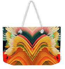 Weekender Tote Bag featuring the photograph Vivid Eruption by Colleen Taylor