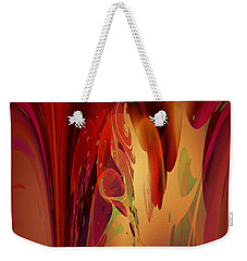 Weekender Tote Bag featuring the digital art Abstract No 12 by Robert Kernodle