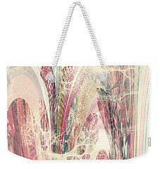Weekender Tote Bag featuring the digital art Abstract No 18 by Robert G Kernodle
