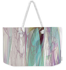 Weekender Tote Bag featuring the digital art Abstract No 19 A by Robert G Kernodle