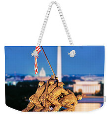 Digital Composite, Iwo Jima Memorial Weekender Tote Bag by Panoramic Images