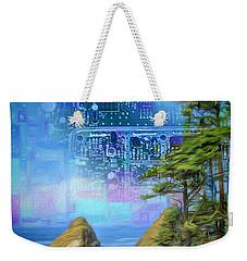 Digital Dream Weekender Tote Bag