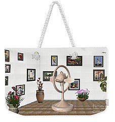 digital exhibartition _ Statue of fish 3 Weekender Tote Bag