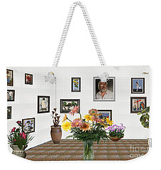 Digital Exhibition _ Flowers In A Vase Weekender Tote Bag