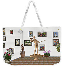 Weekender Tote Bag featuring the mixed media Digital Exhibition _ Guard Of The Exhibition 3 by Pemaro