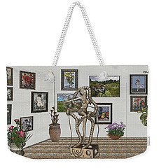 Digital Exhibition _ Modern  Statue 1   Of Dancing Girl Weekender Tote Bag