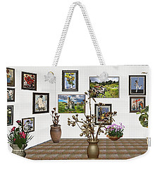 Weekender Tote Bag featuring the mixed media digital exhibition _ Modern Statue of Modern statue of branches by Pemaro