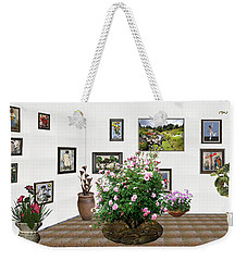 Weekender Tote Bag featuring the mixed media Digital Exhibition _ Roses Blossom 22 by Pemaro