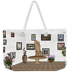 Weekender Tote Bag featuring the mixed media digital exhibition _ Sculpture 8 of girl  by Pemaro