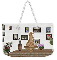 Weekender Tote Bag featuring the mixed media digital exhibition _ Sculpture 9 of girl  by Pemaro