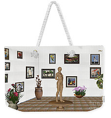 digital exhibition _ Statue of a Statue 22 of posing lady  Weekender Tote Bag by Pemaro