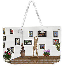 digital exhibition _ Statue of a Statue 23 of posing lady  Weekender Tote Bag by Pemaro
