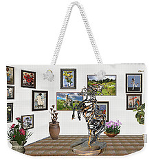Weekender Tote Bag featuring the mixed media Digital Exhibition _ Statue Of Branches by Pemaro