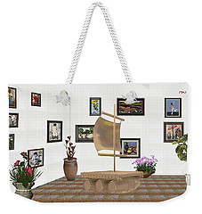 digital exhibition _ Statue raft with sails 4 Weekender Tote Bag