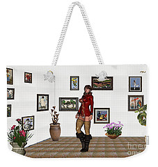 digital exhibition 32  posing  Girl 31  Weekender Tote Bag