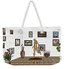 digital exhibition   sculpture of  posing  Girl 32  Weekender Tote Bag