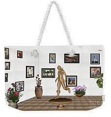 digital exhibition   sculpture of  posing  Girl 32  Weekender Tote Bag
