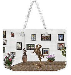 digital exhibition  Statue 24 of posing lady  Weekender Tote Bag