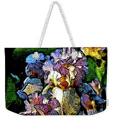 Digital Expressionist Painting Pale Pink Irises 6702 W_4 Weekender Tote Bag