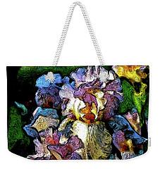 Digital Expressionist Painting Pale Pink Irises 6702 W_4 Weekender Tote Bag