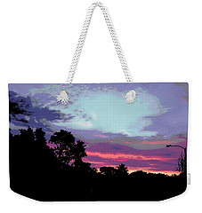 Digital Fine Art Work Sunrise In Violet Gulf Coast Florida Weekender Tote Bag