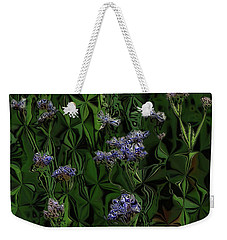 Digital Garden Iv Weekender Tote Bag by Leo Symon