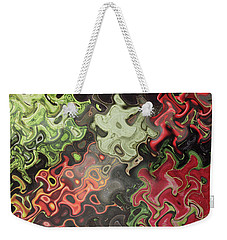 Weekender Tote Bag featuring the digital art Digital Graphics Waves Made Of Veggie Salad Kitchen Cuisine Chef Christmas Holidays Birthday Mom Dad by Navin Joshi