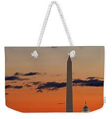 Digital Liquid -  Monuments At Sunrise Weekender Tote Bag