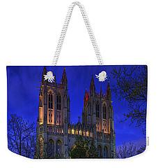 Digital Liquid - Washington National Cathedral After Sunset Weekender Tote Bag