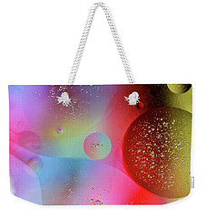 Weekender Tote Bag featuring the photograph Digital Oil Drop Abstract by John Williams