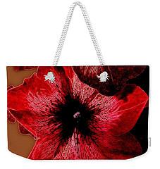 Digital Petunia Weekender Tote Bag