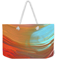 Digital Watercolor Abstract 031417 Weekender Tote Bag by Matt Lindley